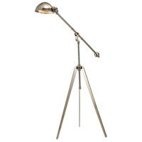 Wesley 61 inch 60 watt Nickel Floor Lamp Portable Light, Trump Home