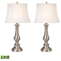 Dimond Lighting Trump Home Fairlawn 2 Light Table Lamp in Nickel D2366/s2-LED