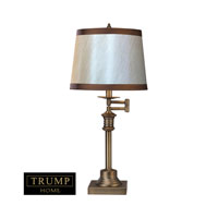 Dimond Lighting Trump Home Saddlebury 2 Light Table Lamp in Brown With Antique Brass D2368 photo thumbnail