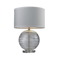 Dimond Lighting Blown Glass 1 Light Table Lamp in Clear with Swirl D241