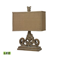 Sutherlin 14 inch 9.5 watt Aged Wood Table Lamp Portable Light in LED