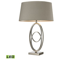 Dimond Lighting D2415-LED Hanoverville 19 inch 9.5 watt Polished Nickel Table Lamp Portable Light in LED
