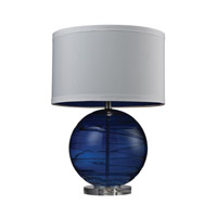 Blown Glass 25 inch 9.5 watt Sapphire Table Lamp Portable Light in LED
