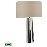 Ranick 16 inch 9.5 watt Chrome and Clear Crystal Table Lamp Portable Light in LED