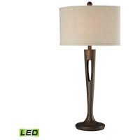Martcliff 17 inch 9.5 watt Burnished Bronze Table Lamp Portable Light in LED