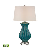 Dimond Pewsey 1 Light Table Lamp in Tallahassee Teal D2453-LED