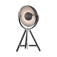 Dimond Backstage 1 Light Table Lamp in Matt Black With Polished Nickel D2463