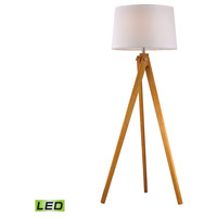 Wooden Tripod 63 inch 9.5 watt Natural Wood Tone Floor Lamp Portable Light in LED