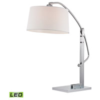 Assissi 25 inch 9.5 watt Polished Nickel Table Lamp Portable Light in LED