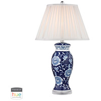 Dimond 28 inch 60 watt Blue with White Table Lamp Portable Light