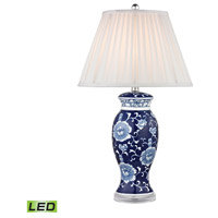 Dimond Blue & White 1 Light Table Lamp in Blue And White Hand Paint D2474-LED
