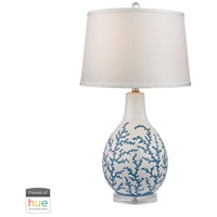 Dimond Lighting D2478-HUE-D Sixpenny 27 inch 60 watt Pale Blue with White Table Lamp Portable Light