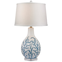 Dimond Sixpenny 1 Light Table Lamp in Pale Blue With White D2478