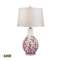 Dimond Sixpenny 1 Light Table Lamp in Red With White D2479-LED