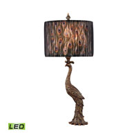 Dimond Peacock Calling 1 Light Table Lamp in Gatton Gold D2480-LED