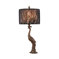 Dimond Peacock Calling 1 Light Table Lamp in Gatton Gold D2480