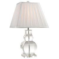 Downtown 19 inch 9.5 watt Clear Table Lamp Portable Light in LED
