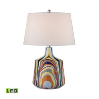 Dimond Technicolor Stripes 1 Light Table Lamp in Technicolor Stripes D2491-LED