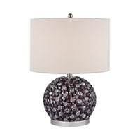 Amethyst Stone 20 inch 60 watt Amethyst,Clear Table Lamp Portable Light, Bejewelled