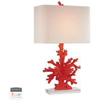 Red Coral 28 inch 60 watt Red Coral Table Lamp Portable Light