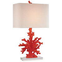 Dimond Lighting D2493 Red Coral 28 inch 150 watt Red Coral Table Lamp Portable Light in Incandescent, 3-Way