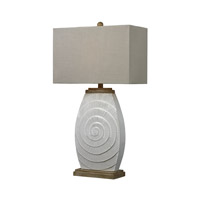 Dimond Lighting D250 Signature 31 inch 150 watt Fauborg Glaze and Light Wood Table Lamp Portable Light in Incandescent