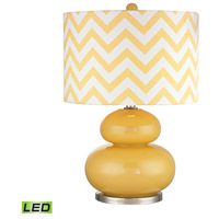 Dimond Tavistock 1 Light Table Lamp in Sunshine Yellow With Polished Nickel D2501-LED