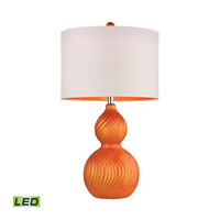 Dimond Carluke 1 Light Table Lamp in Tangerine Orange D2506-LED