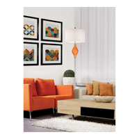 Dimond Chester 1 Light Floor Lamp in Tangerine Orange with Polished Nickel D2510 alternative photo thumbnail