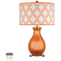 Dimond Lighting D2511-HUE-D Thatcham 26 inch 60 watt Polished Nickel with Tangerine Orange Table Lamp Portable Light