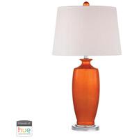 Dimond Lighting D2512-HUE-D Halisham 27 inch 60 watt Polished Nickel with Tangerine Orange Table Lamp Portable Light