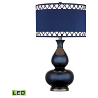 Dimond Heathfield 1 Light Table Lamp in Navy Blue With Black Nickel D2516-LED