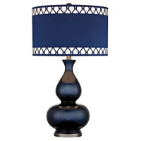 Heathfield 28 inch 150 watt Navy Blue With Black Nickel Table Lamp Portable Light in Incandescent
