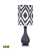 Dimond Hitchin 1 Light Table Lamp in Navy Blue With Black Nickel D2517-LED