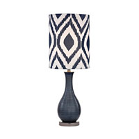 Hitchin 24 inch 60 watt Navy Blue With Black Nickel Table Lamp Portable Light in Incandescent