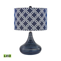 Dimond Peebles 1 Light Table Lamp in Navy Blue D2519-LED
