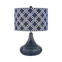 Dimond Peebles 1 Light Table Lamp in Navy Blue D2519