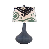 Penarth 26 inch 150 watt Navy Blue Table Lamp Portable Light in Incandescent