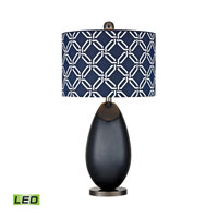 Sevenoakes 25 inch 9.5 watt Navy Blue With Black Nickel Table Lamp Portable Light in LED