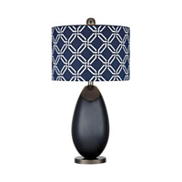 Dimond Sevenoakes 1 Light Table Lamp in Navy Blue With Black Nickel D2521