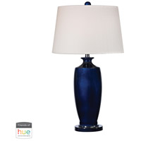 Dimond Lighting D2524-HUE-D Halisham 27 inch 60 watt Black Nickel with Navy Blue Table Lamp Portable Light