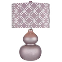 Ivybridge 22 inch 100 watt Lilac Luster Table Lamp Portable Light in Incandescent