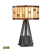 Dimond Folkstone 2 Light Table Lamp in Matte Black D2539-LED