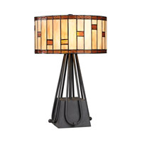 Dimond Folkstone 2 Light Table Lamp in Matte Black D2539