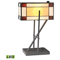 Fortwilliam 20 inch 9.5 watt Matte Black Table Lamp Portable Light in LED