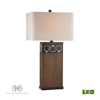 Dimond Triple Tack Hunt 1 Light Table Lamp in Antique Pine, Ob, and Chrome D2554-LED