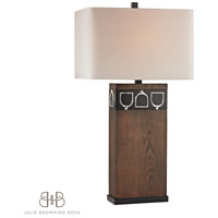 Dimond Triple Tack Hunt 1 Light Table Lamp in Antique Pine, Ob, and Chrome D2554