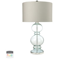 Dimond Lighting D2556-HUE-D Curvy Glass 32 inch 60 watt Clear Light Blue with Polished Chrome Table Lamp Portable Light