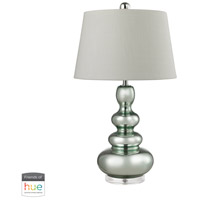 Dimond Lighting D2557-HUE-B Stacked Gourd 27 inch 60 watt Light Green with Silver Mercury Table Lamp Portable Light