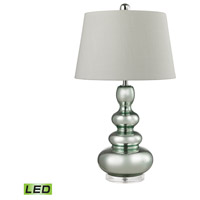 Dimond Lighting Stacked Gourd 1 Light LED Table Lamp in Silver Mercury and Green Accent Glass and Arylic D2557-LED